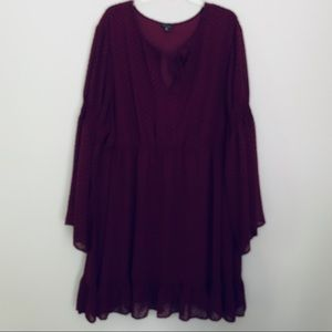 torrid Dresses - Torrid burgundy textured skaters dress